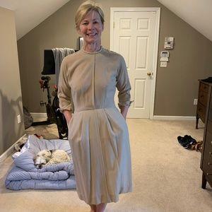 vintage cream wool dress